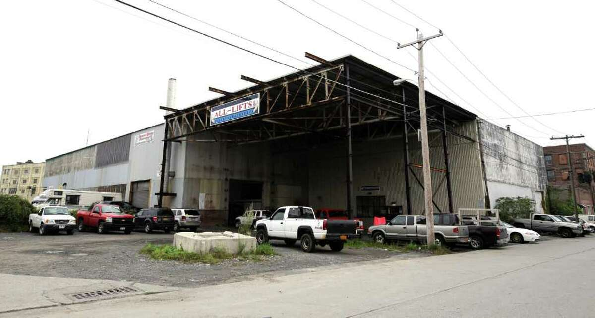 The All-Lifts building which is the proposed site of the new Sneaky Pete's on Thacher Street in Albany, N.Y. September 26, 2011. (Skip Dickstein/Times Union)