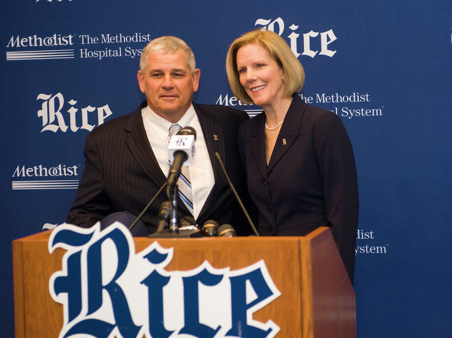Rice athletic director Rick Greenspan says ADs from both conferences are enthused by the potential football-only merger. Photo: Tommy LaVergne / handout email