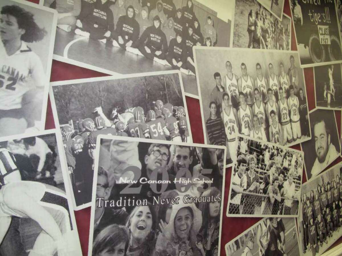 Athletes from all student sports are well represented on the wall.