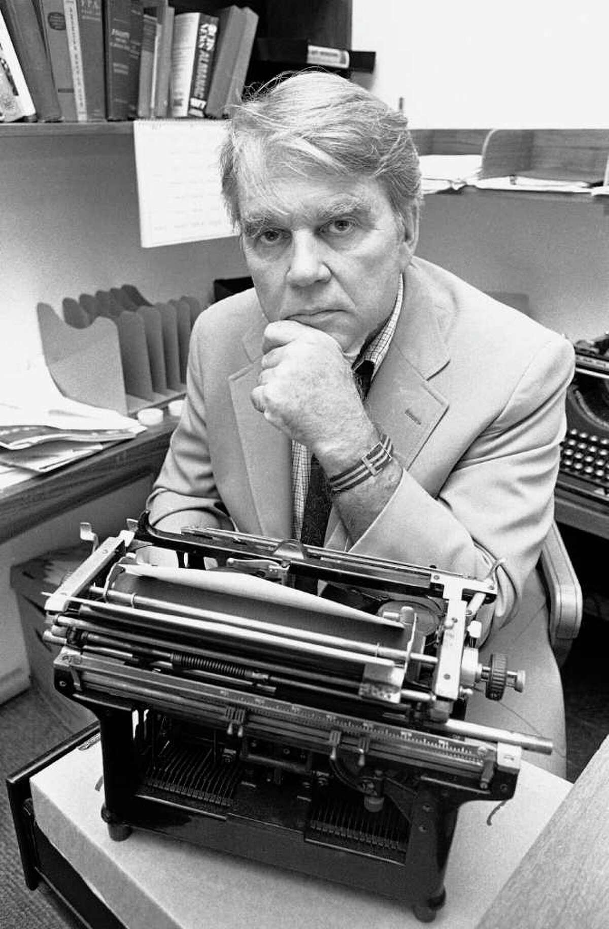 In this 1978 file photo, commentator Andrew Rooney of the news magazine series
