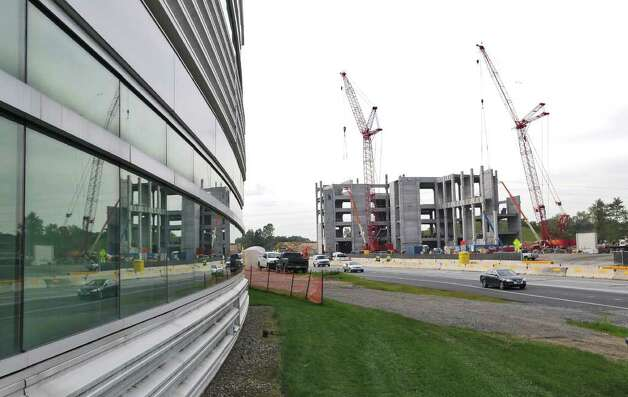 New construction continues at the College of Nanoscale Science and Engineering on Tuesday Sept. 27, 2011 in Albany, NY.  Governor Andrew Cuomo announced this morning that IBM and the Intel Corporation will place research and development operations there. ( Philip Kamrass / Times Union) Photo: Philip Kamrass / 00014779A