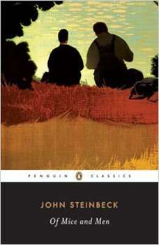 """Of Mice and Men"" by John Steinbeck – On the American Library Association's list of frequently challenged books, it ranked No. 10 in 2004, No. 3 in 2003, No. 2 in 2001 – Some complain Steinbeck's description of itinerant farmworkers contains offensive language, racism and violence."