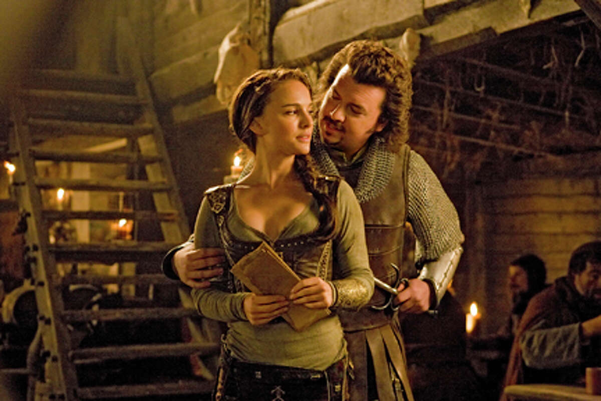 Natalie Portman as Isabel and Danny McBride as Thadeous in