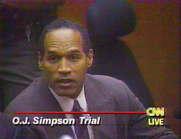 FILE--O.J. Simpson, shown in this image made from television, reacts to Judge Lance Ito's announcement of a verdict Oct. 2, 1995.  Court TV, which is leading a fight to televise the trial of an alleged accomplice in the Sept. 11 attacks, will likely have company if a judge allows cameras. Court TV has the most to gain if the rules are waived to allow cameras. The Simpson saga made the network and almost broke it, too. At its peak in September 1995, Court TV was watched in an average of 422,000 households per day. Photo: AP / CNN