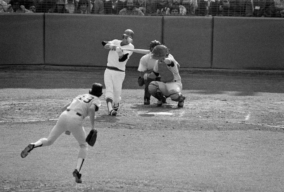 1978 Boston Red Sox. Boston led by 14 games in July and still held a 7.5-game lead with 32 games  remaining. They then went 3-14 to fall into a one-game playoff with the Yankees. Then, Bucky Dent became an expletive in New England, as he hit a home run in a one-run New York victory. (Carl Yastrzemski, above, couldn't help the Red Sox prevail). Photo: Associated Press