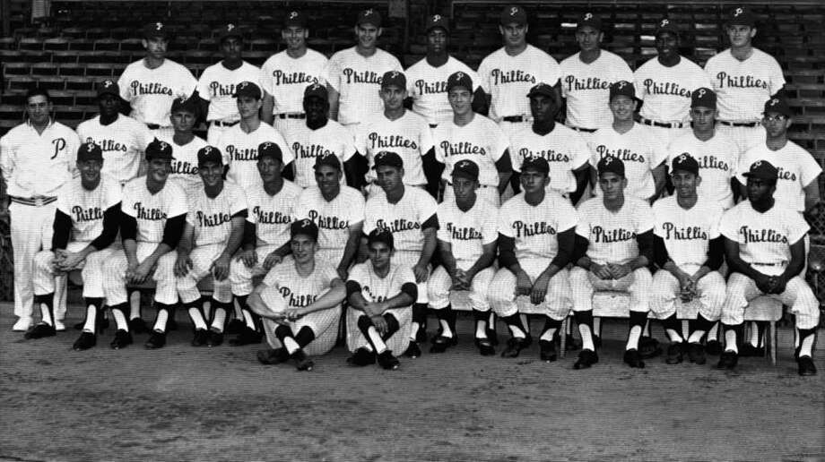 1964 Philadelphia Phillies.The Phillies  led by 6.5 games over the Cardinals and Reds with 12 to go in  September, then lost 10 in a row and ended up one game back in a tie for  second with the Reds. Photo: Associated Press