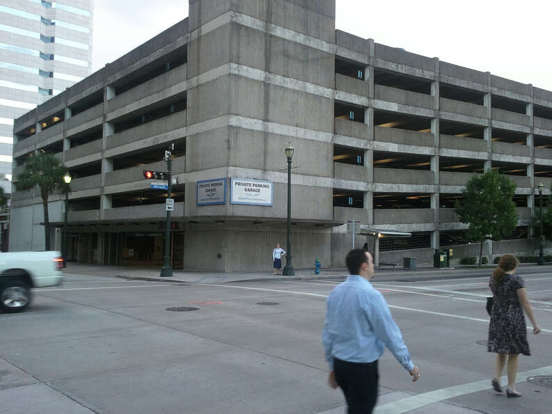 Parking garages are never pretty. The Houston Chronicle's parking garage is no exception.