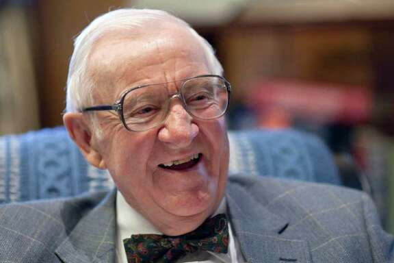 """Retired Supreme Court Justice John Paul Stevens, 91, works in his office at the Supreme Court in Washington, Wednesday, Sept. 28, 2011. His new book is titled """"Five Chiefs: A Supreme Court Memoir,"""" a personal reflection on the five chief justices he has known.  (AP Photo/J. Scott Applewhite)"""