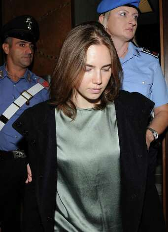 PERUGIA, ITALY - SEPTEMBER 29:  Amanda Knox attends her appeal hearing at Perugia's Court of Appeal on September 29, 2011 in Perugia, Italy. Amanda Knox and Raffaele Sollecito are awaiting the verdict of their appeal that could see their conviction for the murder of Meredith Kercher overturned. American student Amanda Knox and her Italian ex-boyfriend Raffaele Sollecito, who were convicted in 2009 of killing their British roommate Meredith Kercher in Perugia, Italy in 2007, have served nearly four years in jail after being sentenced to 26 and 25 years respectively. Photo: Giuseppe Bellini, Getty Images / 2011 Getty Images