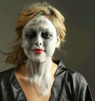 Mix in a gray clay mask for texture.  Use streaks to give a skeletal look. Photo: HELEN L. MONTOYA, SAN ANTONIO EXPRESS-NEWS / hmontoya@express-news.net