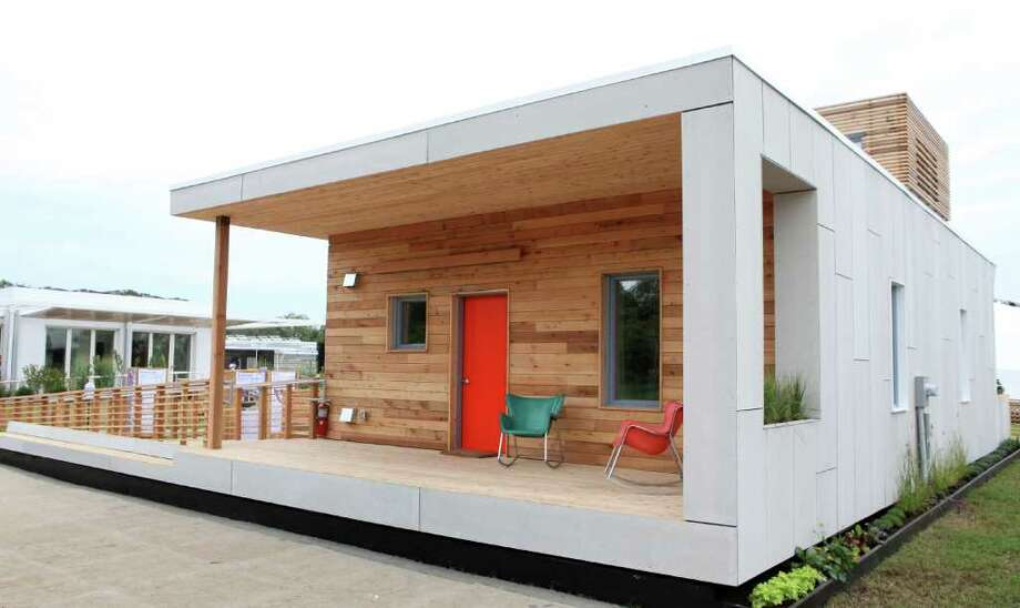 Empowerhouse, by Parsons The New School for Design and Stevens Institute of Technology, is seen on Sept. 22, 2011 at the U.S. Department of Energy Solar Decathlon in Washington, D.C. The one-bedroom, 1,000-square-foot house includes: