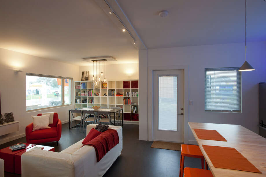 The interior of Re_home, by the University of Illinois at Urbana-Champaign, is seen at 