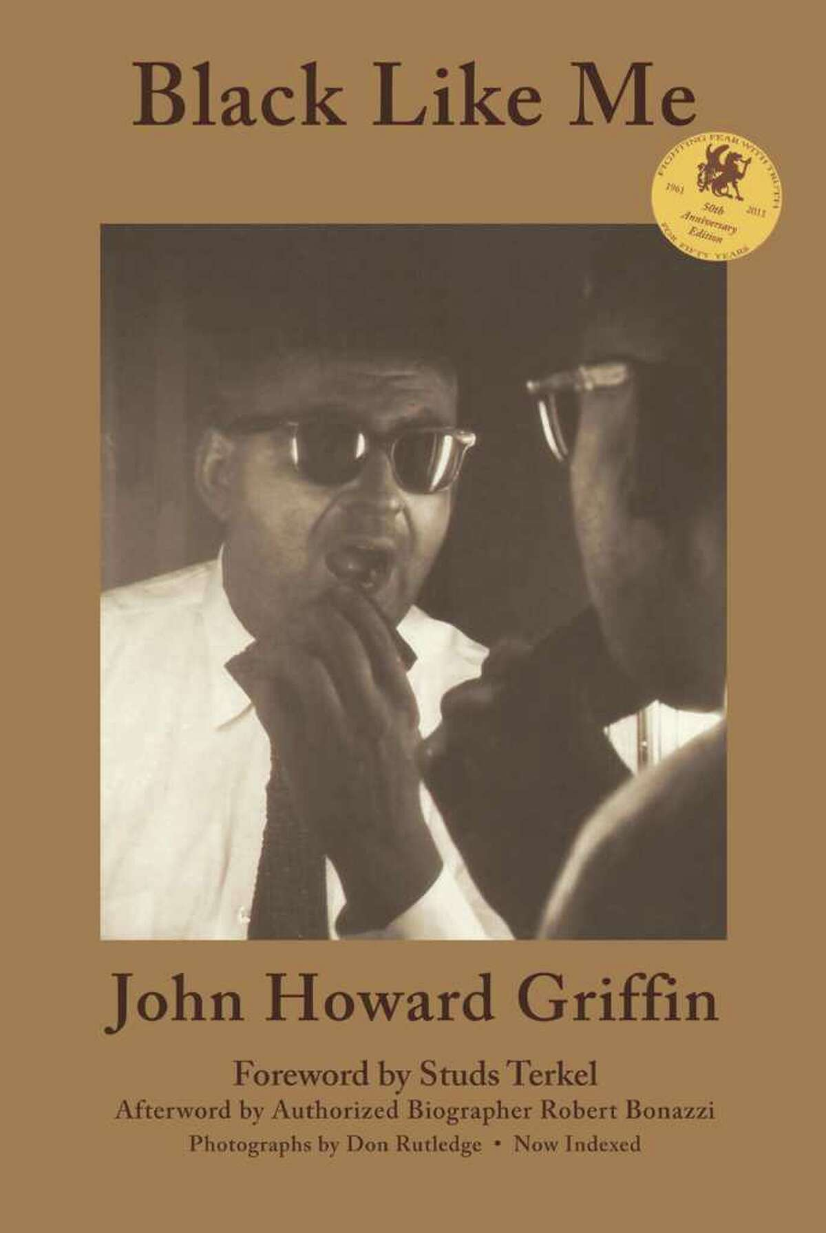 Cover image of 50th anniversary edition of Black Like Me, by John Howard Griffin