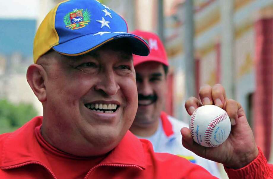 ASSOCIATED PRESS ROBUST?: Hugo Chavez pitches the message that he is rapidly on the mend. / MIRAFLORES PRESS OFFICE