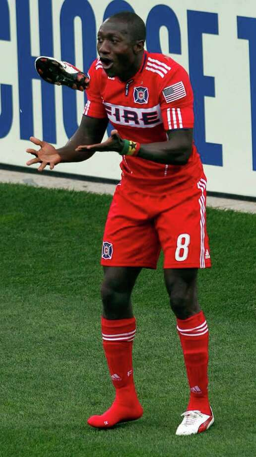 JOHN SMIERCIAK: AP ON FIRE: Forward Dominic Oduro has 11 goals this season for Chicago. Photo: John Smierciak / FR170074 AP