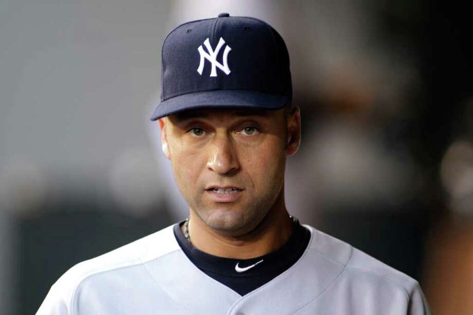 New York Yankees' Derek Jeter is shown in the dugout prior to a baseball game against the Seattle Mariners, Monday, Sept. 12, 2011, in Seattle. (AP Photo/Ted S. Warren) Photo: Ted S. Warren / AP