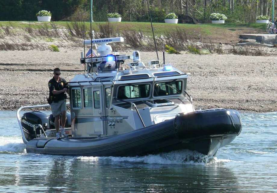 The Fairfield Police Department unveiled its new 33-foot SAFE Boat vessel Friday morning. The $450,000 boat was purchased through the Port Security Grant program. Photo: Genevieve Reilly / Fairfield Citizen