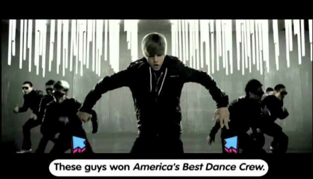 "An undated handout screenshot of a Justin Bieber music video of VH1's ""Pop Up Video."" As VH1 tries to realign with music, ""Pop Up"" will return as a midday show, starting Monday, Oct. 3, 2011. (VH1/Eyeboogie via The New York Times) -- NO SALES; FOR EDITORIAL USE ONLY WITH STORY SLUGGED TV-POP-UP-VIDEO-ADV02 BY MEGAN ANGELO. ALL OTHER USE PROHIBITED. -- PHOTO MOVED IN ADVANCE AND NOT FOR USE - ONLINE OR IN PRINT - BEFORE OCT. 02, 2011. Photo: VH1/EYEBOOGIE / NYTNS"