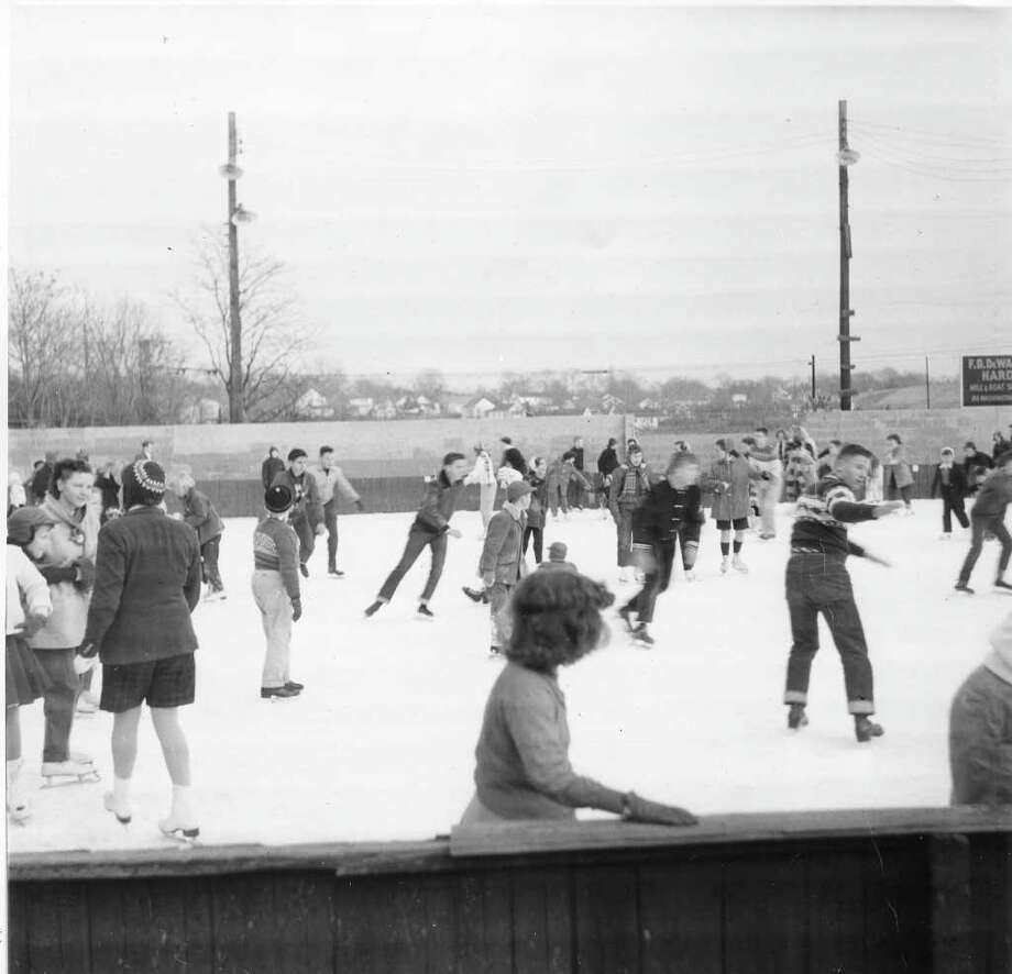 Norwalk's Crystal Ice Skating Rink, which featured indoor and outdoor rinks, closed in the 1970s. Photo: Courtesy Of The Norwalk Museum