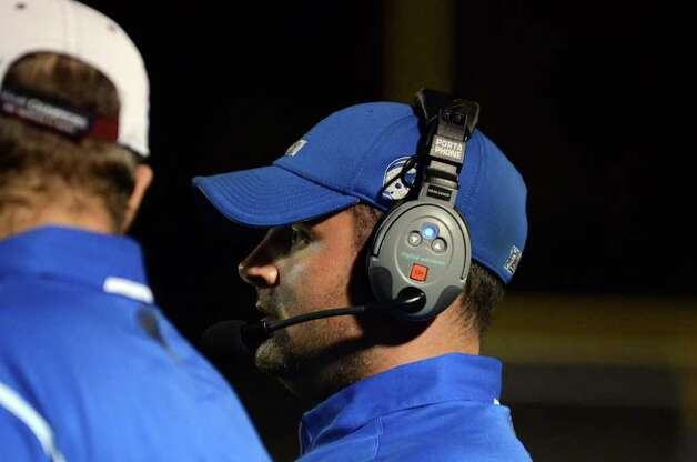 Fairfield Ludlowe head football coach Matt McCloskey stands on the sidelines during the football game against Trumbull at Fairfield Ludlowe High School on Friday, Sept. 30, 2011. Photo: Amy Mortensen / Connecticut Post Freelance