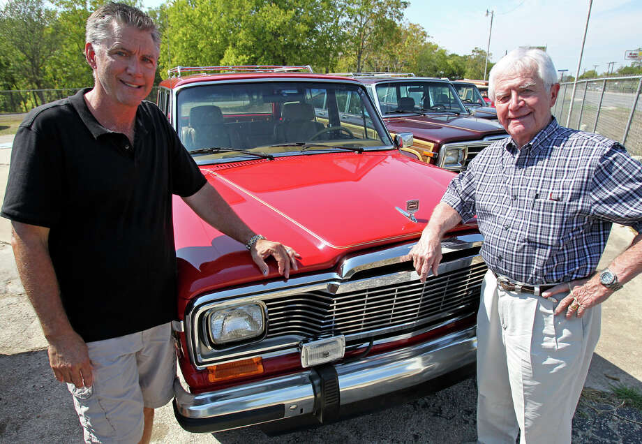 Leon Miller and his son Chip Miller operate Wagonmaster, a business devoted to restoration of Jeep Grand Wagoneers. Photo: Tom Reel/Express-News / © 2011 San Antonio Express-News