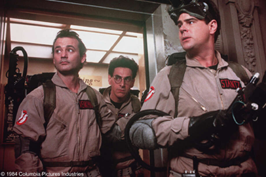 "Ramis, center, played the deadpan Egon Spengler in the blockbuster ""Ghostbusters"" and its sequel. He also directed the films."