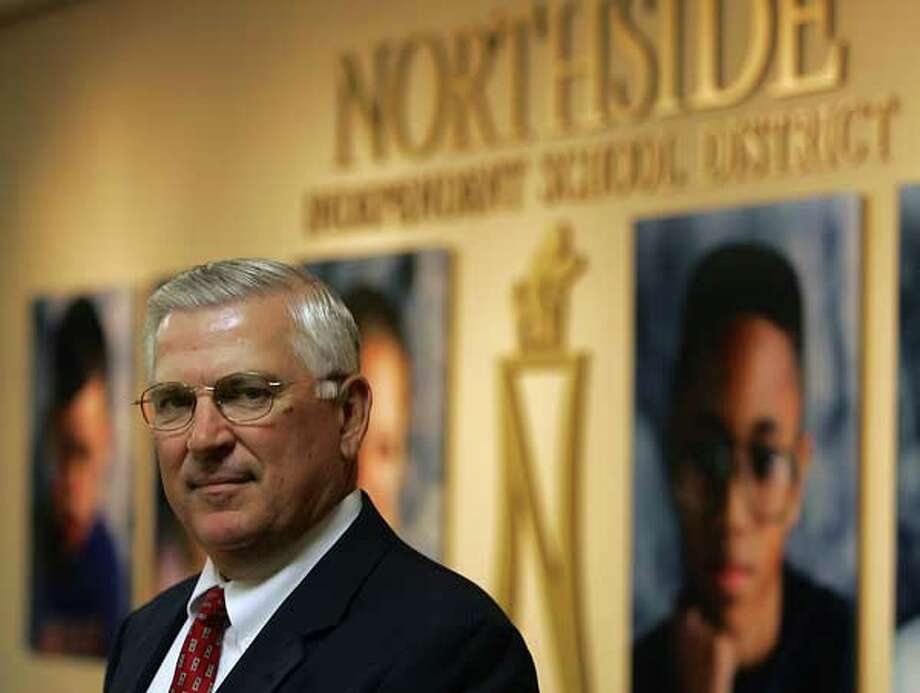 North Side Superintendent Dr. John Folks poses at the district offices. EXPRESS-NEWS FILE PHOTO
