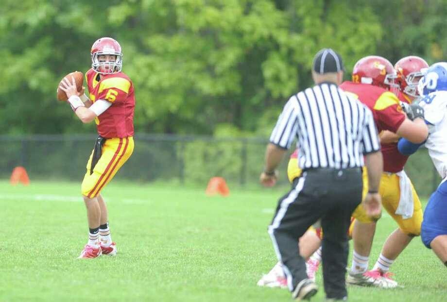 St. Joseph High School football vs. Darien High School Saturday, Oct. 1, 2011 at the St. Joseph campus in Trumbull, Conn. Photo: Autumn Driscoll