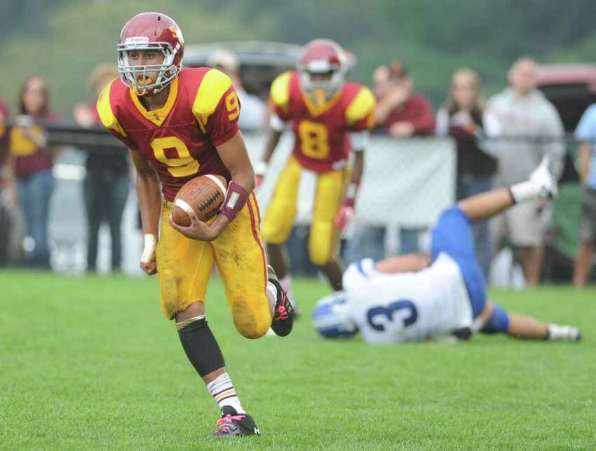 St. Joseph High School football vs. Darien High School Saturday, Oct. 1, 2011 at the St. Joseph campus in Trumbull, Conn.