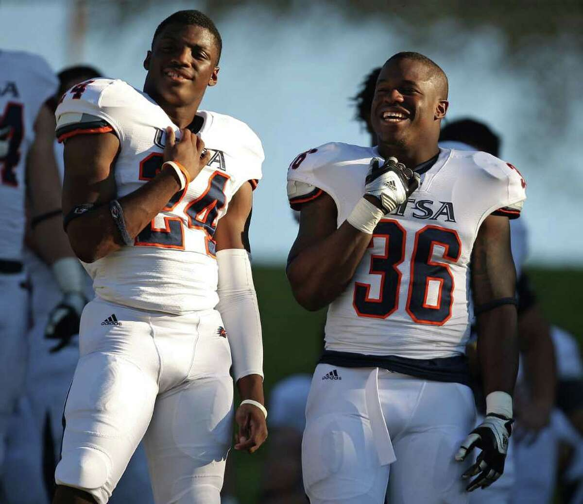 Roadrunners coaches know they have to get the multi-talented Evans Okotcha more touches at tailback in 2012.