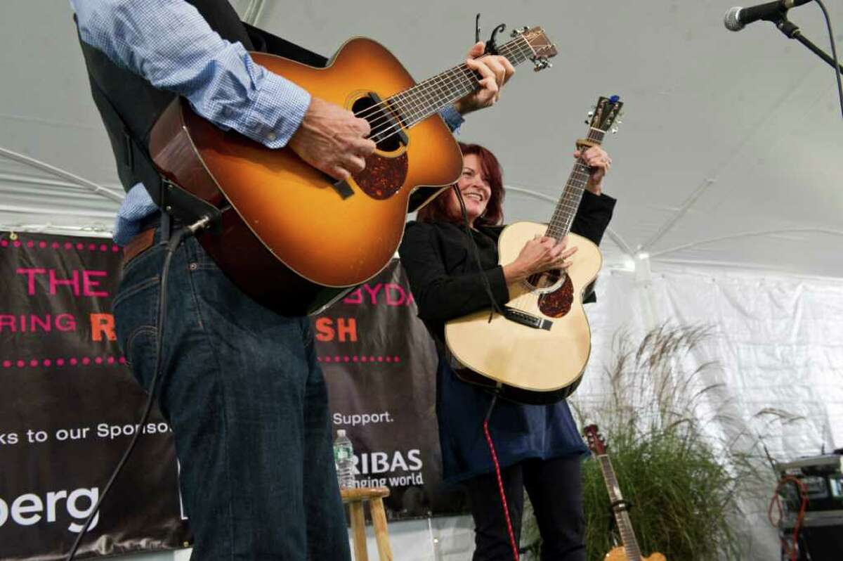 Rosanne Cash plays a benefit concert for Family Re-Entry in Greenwich, Conn., October 2, 2011. Family ReEntry is a programmed aimed at helping incarcerated people move back into society by offering individualized case management and support services. The program also aims to reduce the likelihood that clients will re-offend. Cash traces her dedication to such causes back to her father, Johnny Cash, who famously recorded a live album at Folsom State Prison in California where Roseanne Cash recently played a concert too.