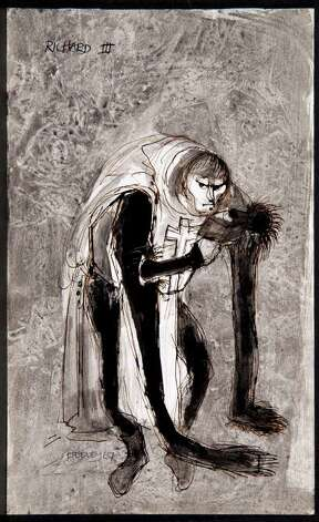 "Desmond Heeley's costume design for a 1967 production of ""Richard III."" COURTESY McNAY ART MUSEUM Photo: Courtesy McNay Art Museum"