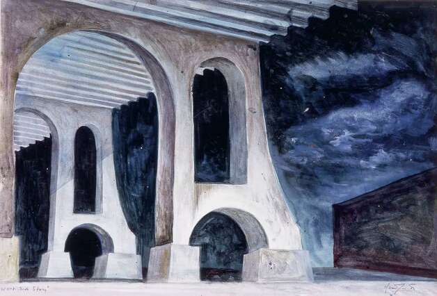 "Oliver Smith's ""Under the Highway"" design for the original 1957 stage production of ""West Side Story."" COURTESY McNAY ART MUSEUM Photo: Courtesy McNay Art Museum"