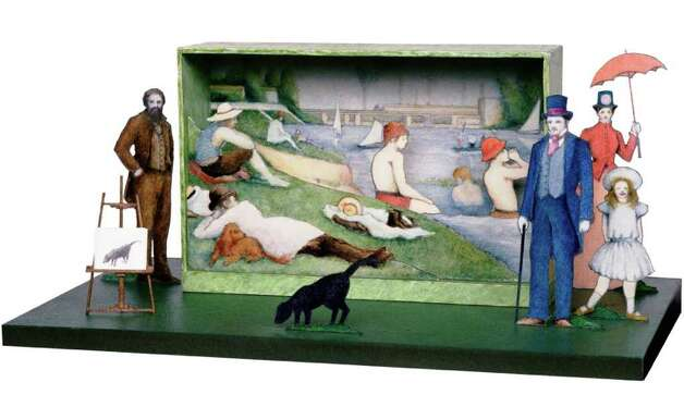 "Tony Straiges' maquette for the boys bathing scene of the 1984 Broadway production of Stephen Sondheim's ""Sunday in the Park with George."" COURTESY McNAY ART MUSEUM Photo: Courtesy McNay Art Museum"
