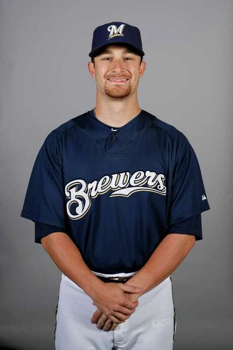 PHOENIX - MARCH 01: Jonathan Lucroy #87 of the Milwaukee Brewers poses during Photo Day on Monday, March 1, 2010 at Maryvale Baseball Park in Phoenix, Arizona.  (Photo by Jon Willey/MLB Photos via Getty Images) *** Local Caption *** Jonathan Lucroy Photo: Jon Willey / 2010 MLB Photos