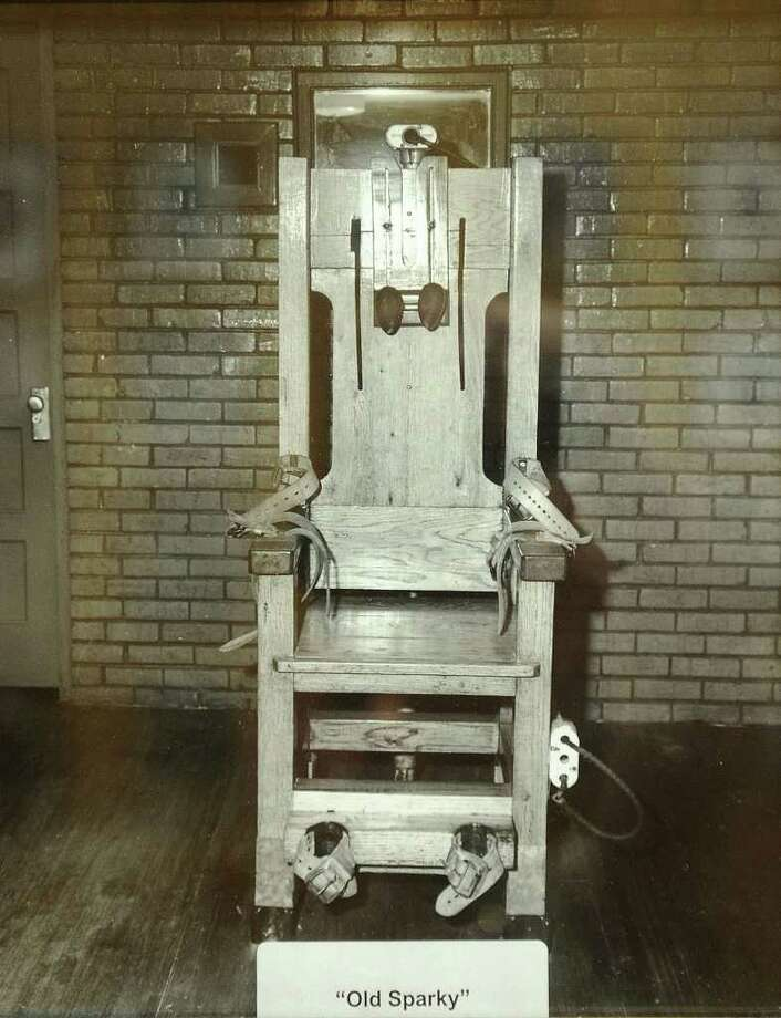 "Texas executed its prisoners by hanging until 1924 when the electric chair was introduced. By 1964 lethal injection became the most humane form of capital punishment. Also, during the Civil War Texas used a firing squad four times. This picture of ""Old Sparky"" hangs in a front room at the Huntsville Unit. Photo provided by Texas Department of Criminal Justice. Photo: Guiseppe Barranco"