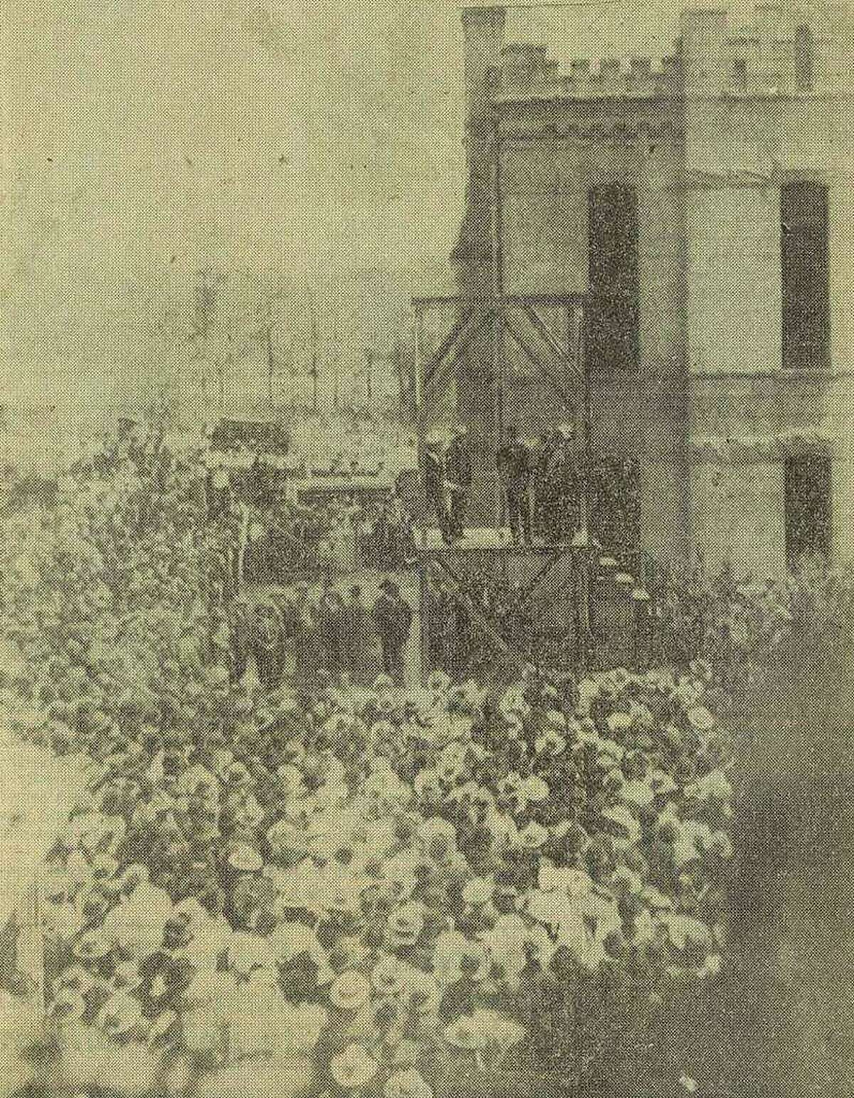 Spectators came from miles around to witness Jefferson County's last public hanging in 1903, when Willie Green was executed in the old jail yard at Pearl and Franklin streets. In 1923, the state began handling executions using an electric chair dubbed