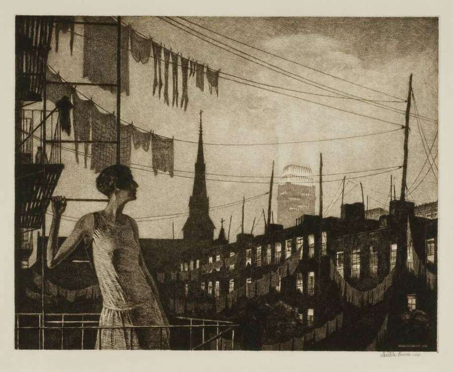 "Martin Lewis' ""Glow of the City,"" completed in 1929. Photo: Contributed Photo"