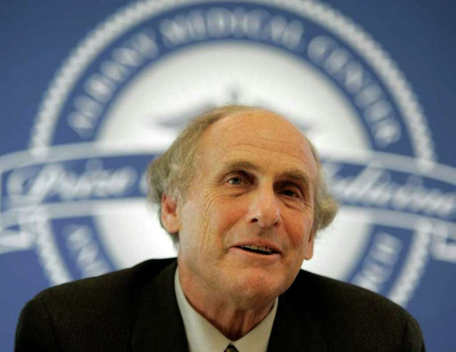"""FILE - In this April 24, 2009 photo, Dr. Ralph Steinman of Rockefeller University speaks during a news conference in Albany, N.Y., Friday, April 24, 2009.  The Nobel committee says American Bruce Beutler and Luxembourg-born scientist Jules Hoffmann have shared the 2011 Nobel Prize in medicine with Canadian-born Ralph Steinman on Monday, Oct. 3, 2011.  Beutler and Hoffman were cited """"for their discoveries concerning the activation of innate immunity.""""  Steinman was honored for """"his discovery of the dendritic cell and its role in adaptive immunity.""""  (AP Photo/Mike Groll) Photo: Mike Groll"""