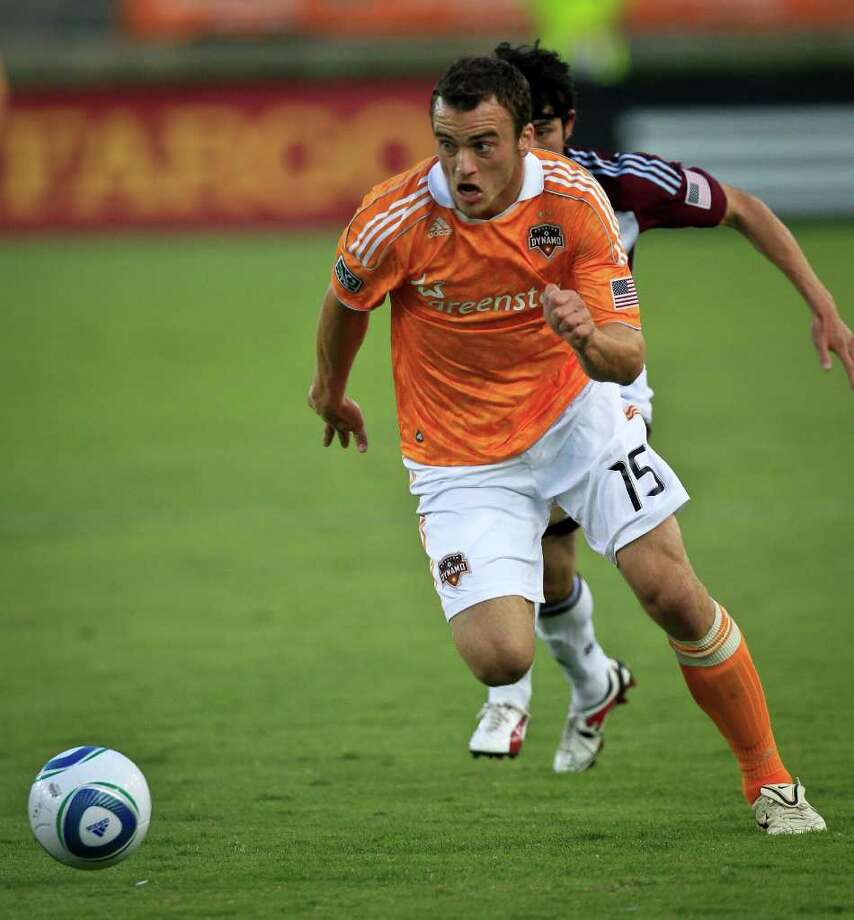 Dynamo forward Cam Weaver isn't going anywhere after choosing to stay with the team. Photo: Michael Paulsen / © 2011 Houston Chronicle