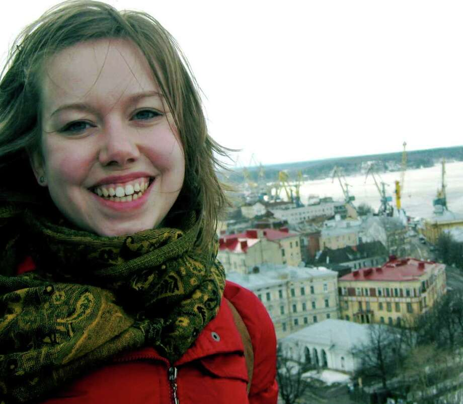 SPECTRUM/Lauren Woodard, a New Milford High School and Smith College graduate, is photographed during time spent traveling in Russia. She is now a Fulbright Scholar doing research in Kazakhstan. October 2011  Courtesy of Lauren Woodard Photo: Contributed Photo