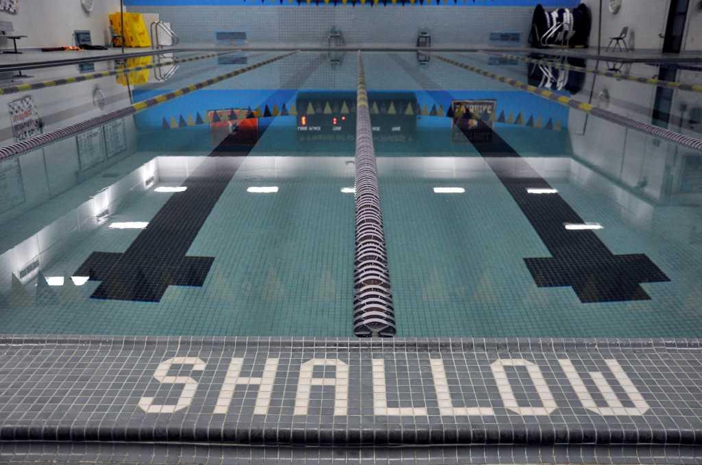 Westhill 39 s swim team in shallow water stamfordadvocate - John martinez school new haven swimming pool ...