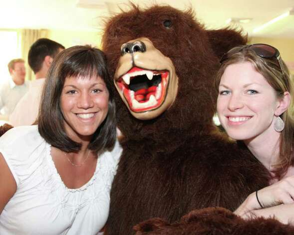 The Glenholme Grizzly delivered special cheer to the boarding faculty during the school's annual Boarding Recognition Week. Boarding Program Supervisor Renee Czaplicki, Post Secondary Education/Boarding, Rachel Swanson and all the other faculty members enjoyed the Grizzly's visit. Photo: Contributed Photo