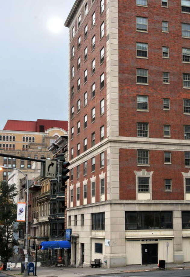Exterior of the DeWitt Clinton Building(at right) in downtown Albany Thursday morning October 15, 2009. (John Carl D'Annibale / Times Union)