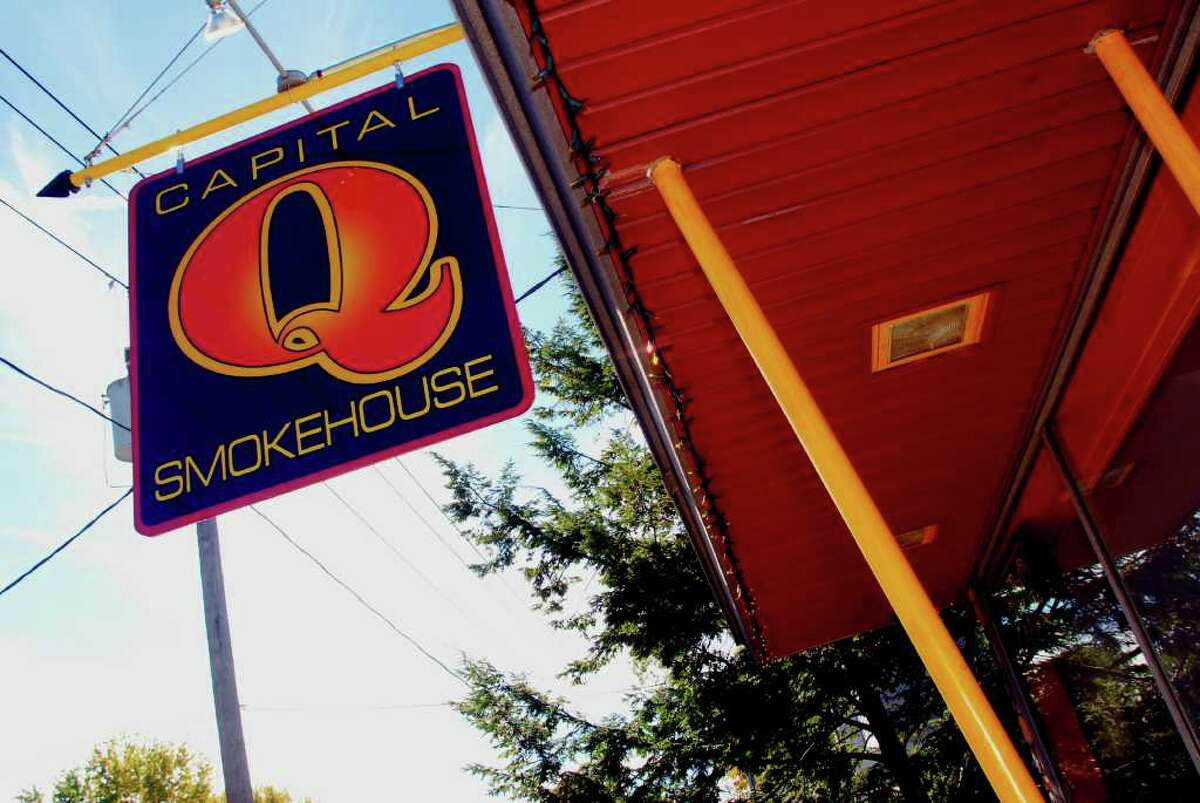 Exterior of the Capital Q, Smokehouse on Ontario Street in Albany.