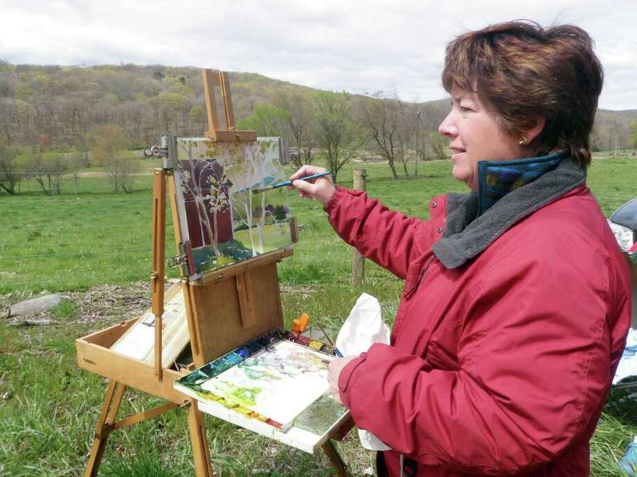 Diane Dubreuil, chairman of the New Milford Commission on the Arts, is a professional artist and member of Connecticut Plein Air artists whose specialty is watercolors. She will be offering a watercolor journaling workshop at Hunt Hill Farm on Oct. 9. Photo: Contributed Photo