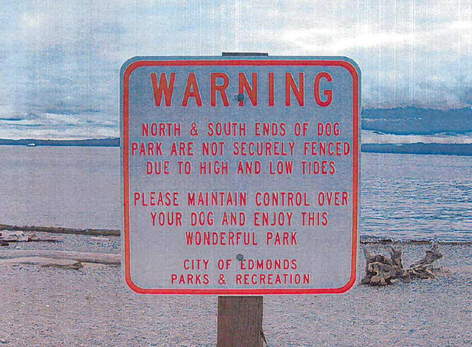 This sign appears at Marina Beach Park in Edmonds. (Photo courtesy Adam Karp).