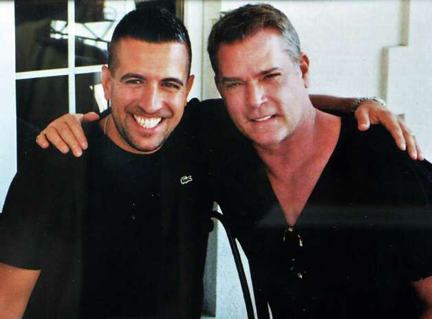 "Photo courtesy of Scotti's Restaurant:  Guy Sementilli, left, chef-owner of Scotti's Restaurant on Union Street in Schenectady with movie star Ray Liotta, who was coming into the restaurant a lot while shooting ""A Place Beyond the Pines"" . / 00014799A"