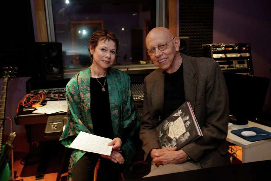 "Dr. Hebert Keyser, right,  with his new book, ""Geniuses of the American Musical Theatre,"" and jazz musician/vocalist Bett Butler at her studio on West Magnolia, in 2009. Butler will provide the music for Keyser musical lectures. JERRY LARA\glara@express-news.net Photo: JERRY LARA, San Antonio Express-News / glara@express-news.net"