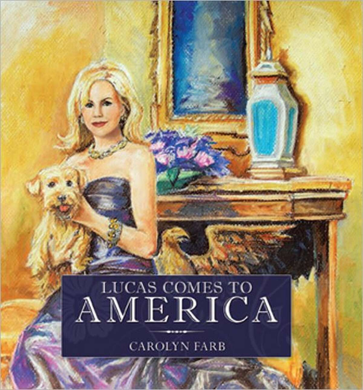 """cover image for """"Lucas Comes to America"""" by Carolyn Farb."""